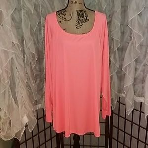 Peach long sleeved athletic shirt by Old Navy. 4X